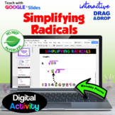 Simplifying Radicals with GOOGLE Slides™ with Drag &  Drop