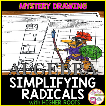 Simplifying Radicals with Higher Roots Mystery Drawing