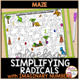 Simplifying Radicals with Imaginary Numbers Maze Activity