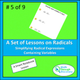 Algebra 1 - Simplifying Radical Expressions Containing Variables