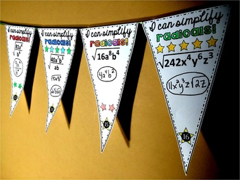 Simplifying Radicals with Variables Pennant