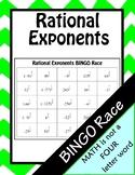Simplifying Rational Exponents BINGO Race