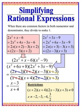 Simplifying Rational Expression