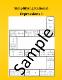 Simplifying Rational Expressions 1 – Math Puzzle