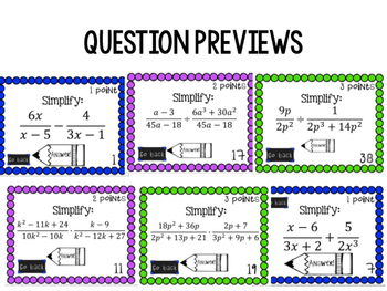 Simplifying Rational Expressions Bucket Ball