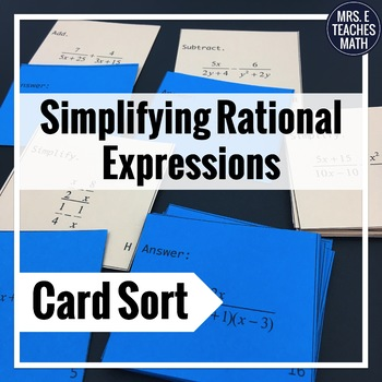 Rational Expressions Card Sort