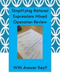 Simplifying Rational Expressions Mixed Operation Review