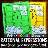 Simplifying Rational Expressions Partner Scavenger Hunt -