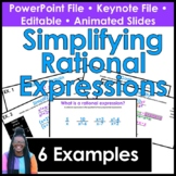 Simplifying Rational Expressions PowerPoint/ Keynote Presentation