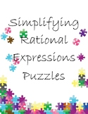 Simplifying Rational Expressions Puzzles