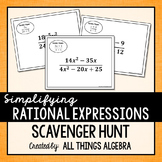 Simplifying Rational Expressions Scavenger Hunt