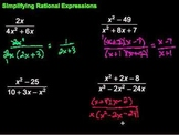 Simplifying Rational Expressions Worksheet (10 Q)