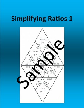 Simplifying Ratios 1 – Math puzzle