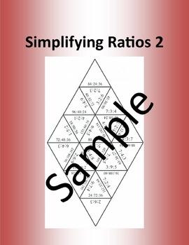 Simplifying Ratios 2 – Math puzzle