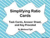 Simplifying Ratios Cards