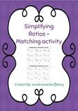 Simplifying Ratios - Matching activity