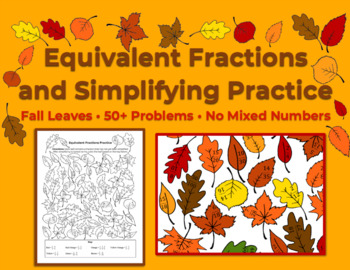 Simplifying/Reducing Fractions - Coloring Activity