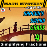 Simplifying (Reducing) Fractions Math Mystery Activity - 4th Grade