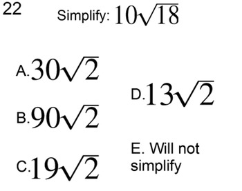 Simplifying Roots without a Calculator 2 Lessons & 4 Assignments for Power Point
