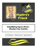 Simplifying Square Roots - A Number Line Activity with Card Sort