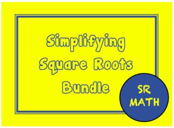 Simplifying Square Roots Bundle, Simplifying Radicals Bundle