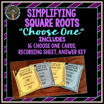 Simplifying Square Roots: Choose One