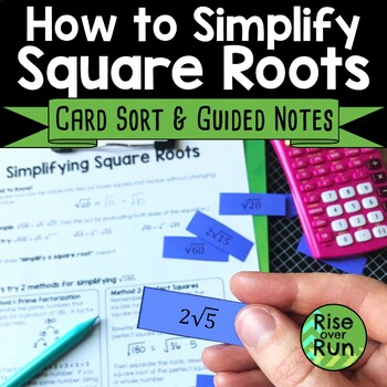 Simplifying Square Roots Introduction Lesson
