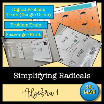 Simplifying Square Roots: Notes, Problem Trains, and Exit Ticket