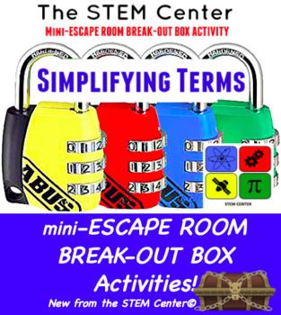 Simplifying Terms Mini Escape Room - Break Out Box