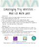 Simplifying Trig Identities Mad Lib Math Joke