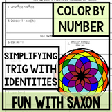 Simplifying Trigonometric Expressions Color By Number