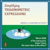 Trig Identities - Simplifying Trig Expressions - Group Activity(typed solutions)