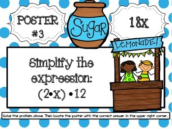 Simplifying and Factoring Equations Scavenger Hunt