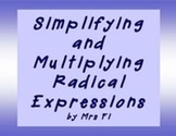 Radical Expressions - Simplifying and Multiplying Math Centers