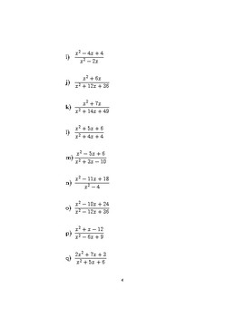 Simplifying expressions with algebraic fractions