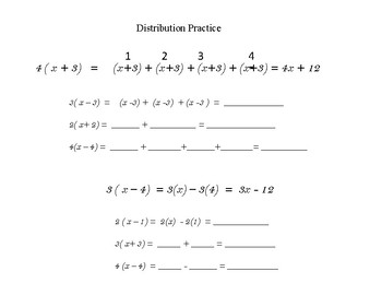 Simplifying expressions with distribution