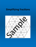 Simplifying fractions - Math puzzle