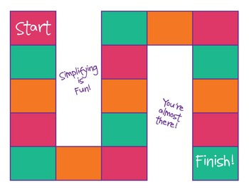 Simplifying is Fun! A Game for Simplifying Fractions!