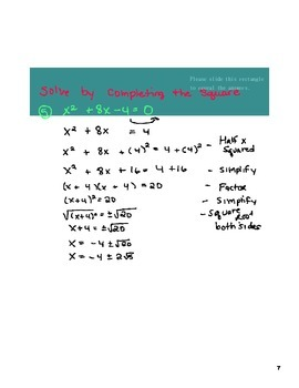 Simplifying/Rationalizing Square Roots and Completing The Square Lesson
