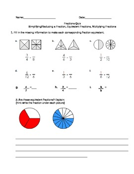 Simplifying/Reducing a Fraction, Equivalent Fractions, Mul