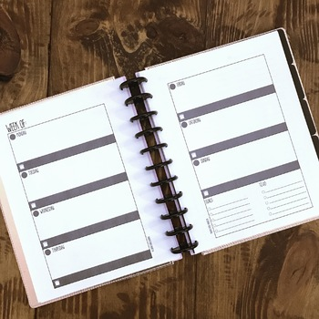 Simplistic Editable Printable Planner