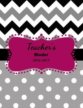Simplistic Teacher Binder
