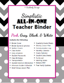 Simplistic Teacher Binder