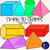 Simply 3-D Shapes Clip Art