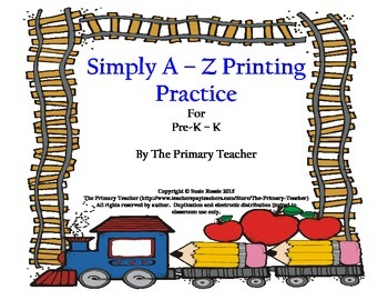 Simply Aa - Zz Printing Practice for Young Students