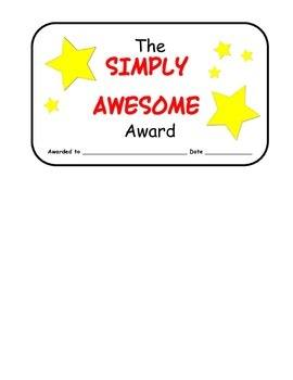 Simply Awesome Award