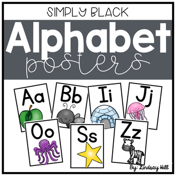 Simply Black Alphabet Posters