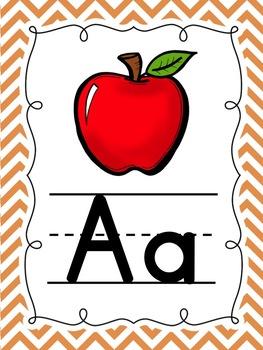 Simply Chevron Alphabet Posters