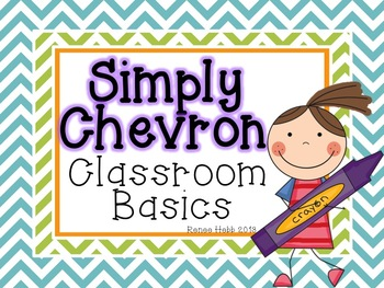 Simply Chevron Classroom Decoratives Set