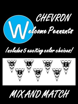 Simply Chevron Welcome Pennant Banner